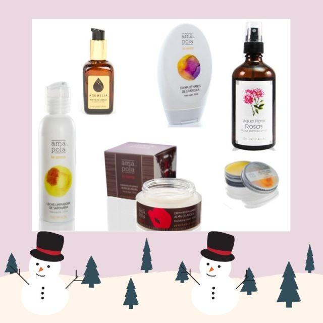 Cesta Navidad con cosmética Natural BIO