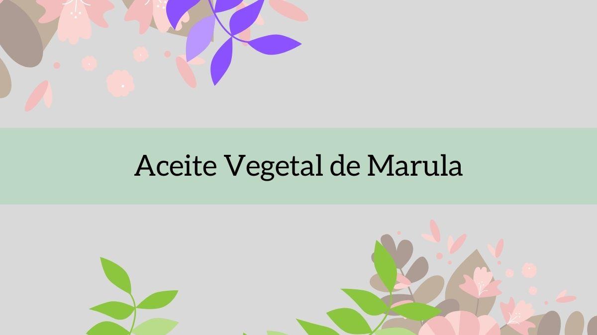 Aceite vegetal de Marual